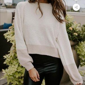 NWT Kittenish Colorblock His # Chenille Sweater